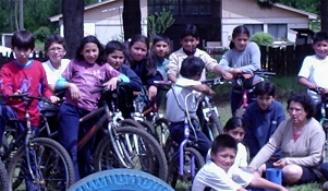 La cicletada a La Araucana, año 2004